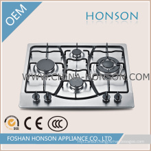 4 Burner Stainless Steel Gas Hob with Safety Device